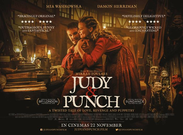 Free Cinema Tickets for Judy and Punch on 17th November
