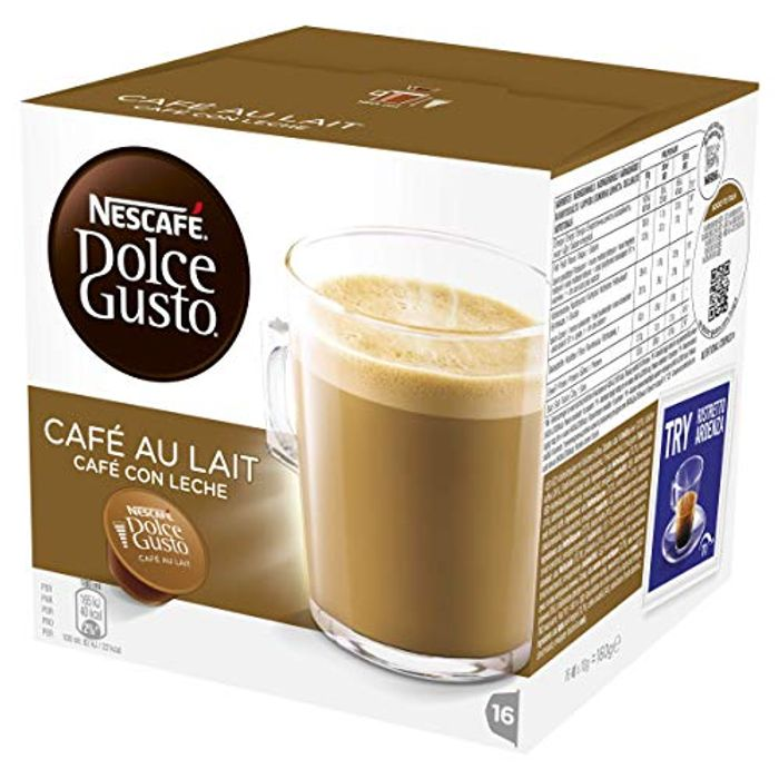 48 NESCAFE DOLCE GUSTO Cafe Au Lait Coffee Pods (3 x 16)