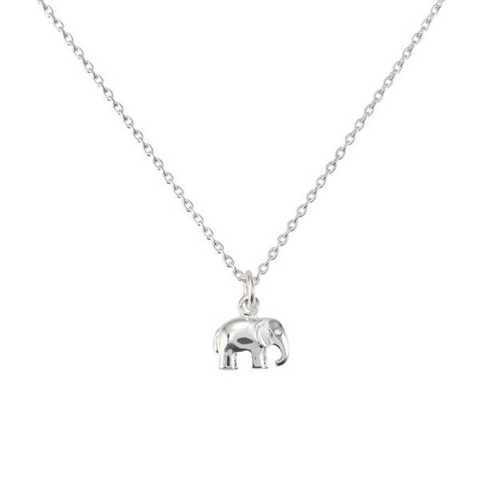 Sterling Silver Elephant Pendant 14 Inch Necklace - Save £5!