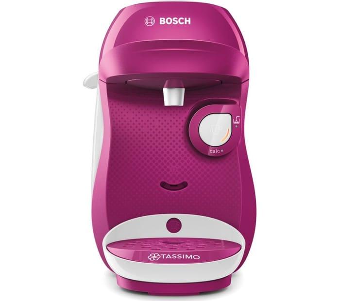 TASSIMO by Bosch Happy Coffee Machine - Purple & White + 2 X £10 Credits