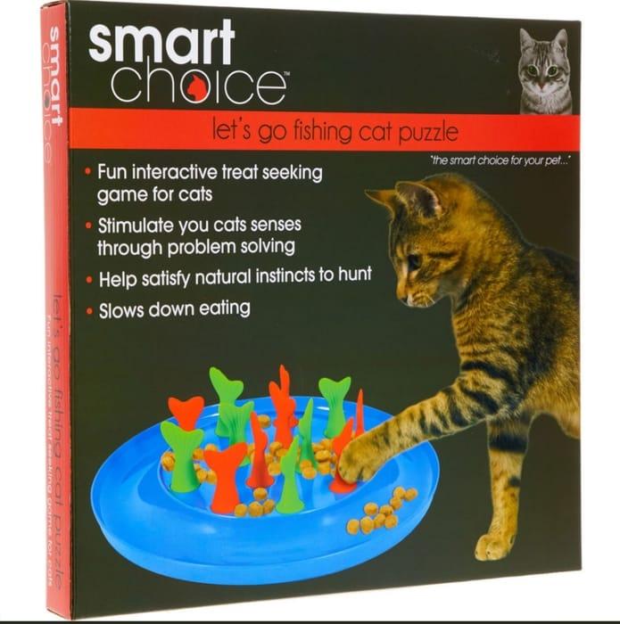 SMART CHOICE Blue Treat Puzzle Cat Game 32x32cm