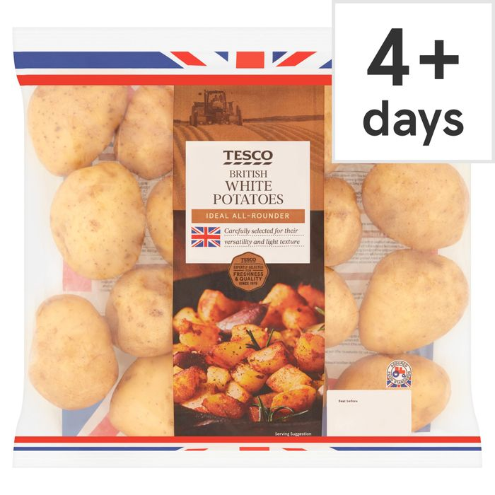 Tesco White Potatoes 2.5Kg Pack - Save £0.38!