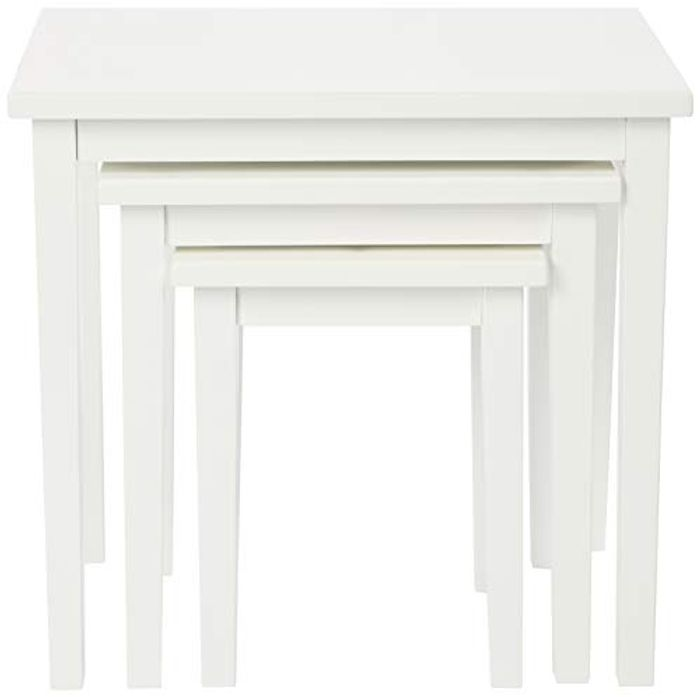 Julian Bowen CLEO NEST of TABLES - PURE WHITE FINISH Only £31.83