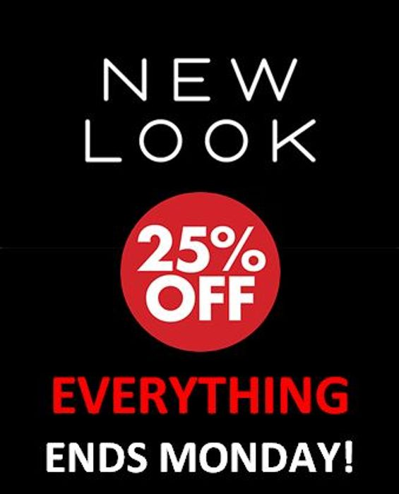 25% off Everything at New Look - Ends Today!