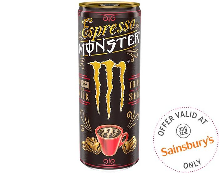 Free Espresso Monster Triple Shot Coffee With Milk or Vanilla