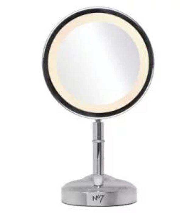 *SAVE £30* No7 Silver Illuminated Makeup Mirror - Exclusive to Boots