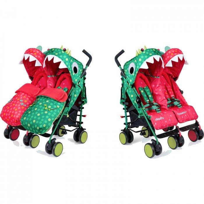 Cosatto Supa Dupa Twin Stroller - Dinomee & Mo..