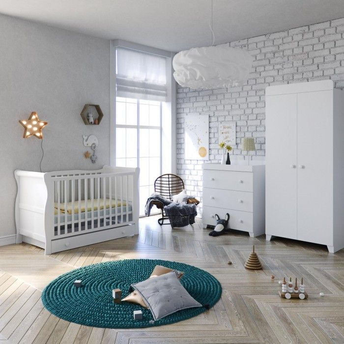 Best Price! Little Acorns 6 Piece Nursery Room Set with Deluxe Foam Mattress