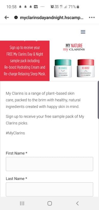 FREE Clarins My Clarins