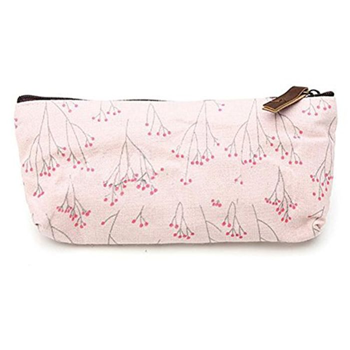 CHEAP Pink Floral Make up Bag Pouch Only 94p with FREE DELIVERY