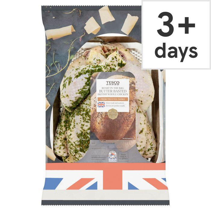 Tesco Roast in Bag Whole Chicken Butter 1.50Kg - 3 for £10
