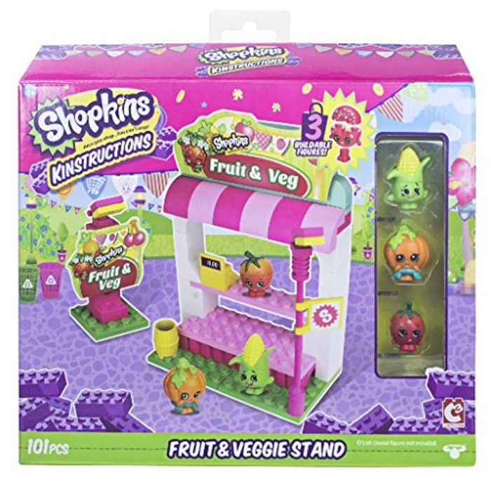 Shopkins Kinstructions Shopping Pack Fruit and Veg Stand Building Set - Save £5!