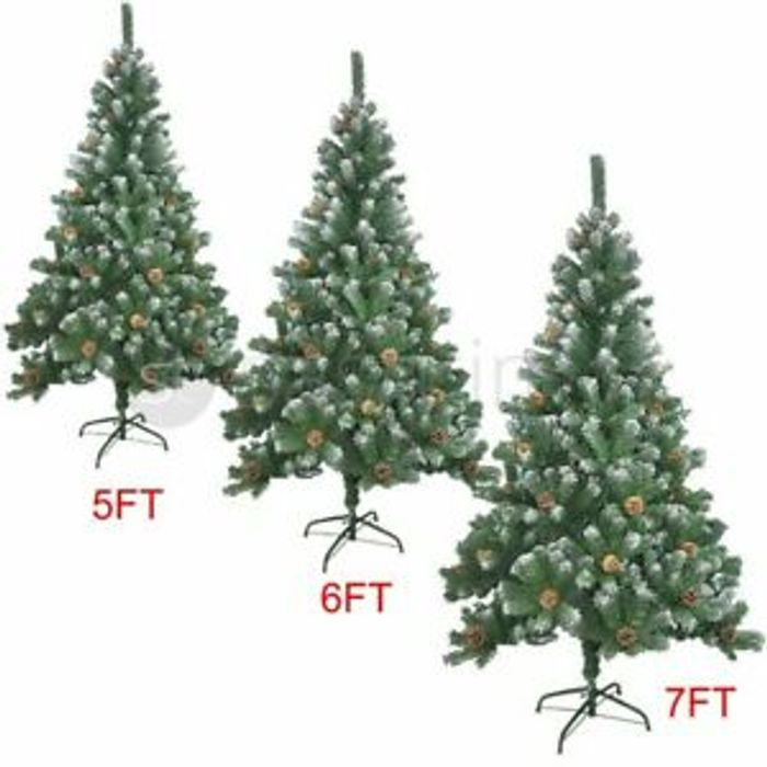 Best Price Artificial Christmas Tree 5/6/7ft Large Snow & Cones Xmas Decoration