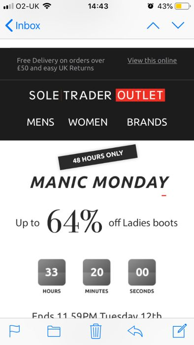 Up to 64% off Ladies Boots