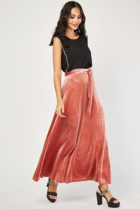 Cheap Gorgeous Velvet Maxi Skirt, Only £5!