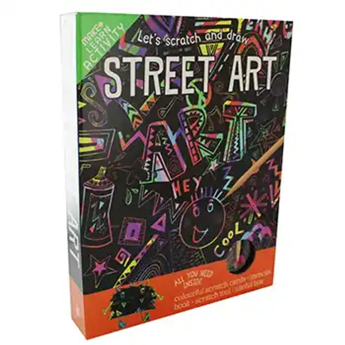 Lets Scratch and Draw Street Art
