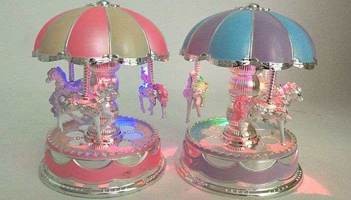 Cheap Rotating LED Merry-Go-round Music Box - 2 Colours, Only £7.99!