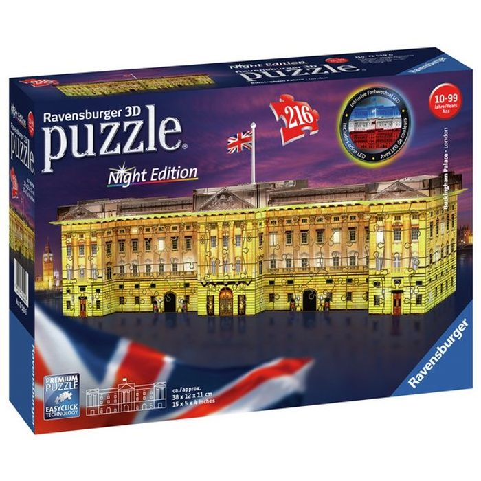 Cheap Buckingham Palace Light up 3D Jigsaw Puzzle, reduced by £3!