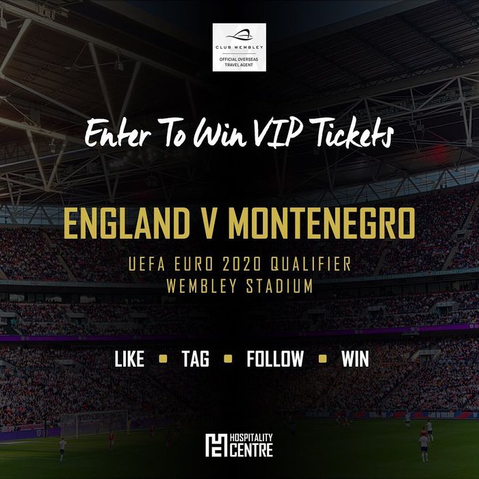 WIN One of Two Pairs of @England v Montenegro VIP Tickets