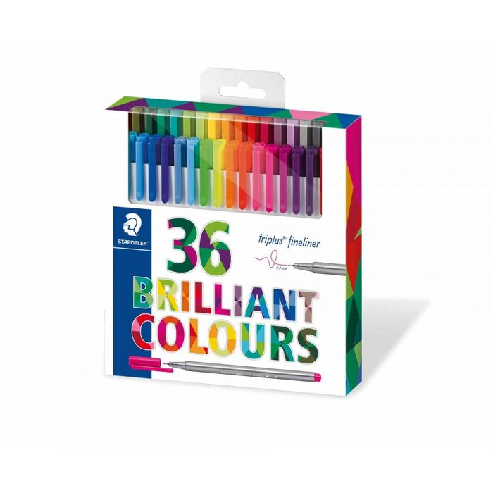Staedtler Triplus Fineliner Brilliant Colours Pack 36
