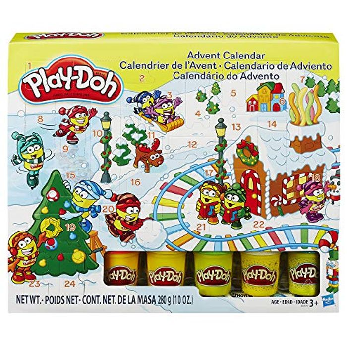 Play-Doh Xmas Advent Calendar - Includes 5 Colour Tubs