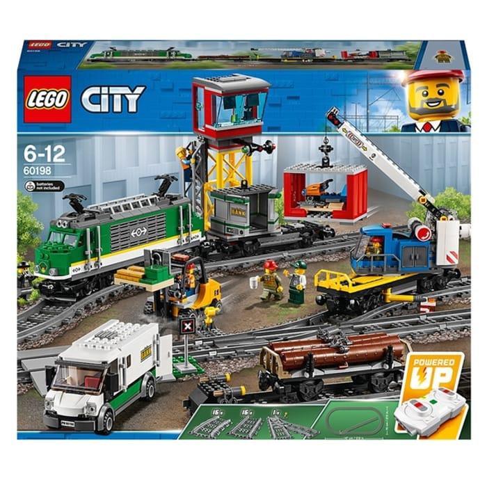 LEGO 60198 City Cargo Train RC and Tracks Building Set