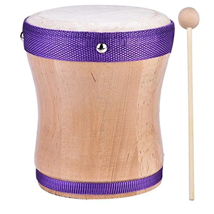 Wooden Handheld Drum Tambourine Toy