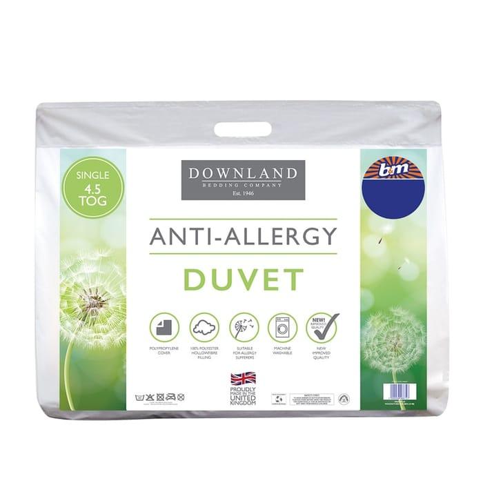 Downland Anti-Allergy 4.5 Tog Duvet - Single