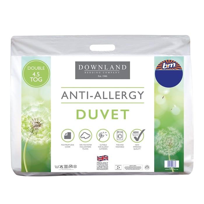 Downland Anti-Allergy 4.5 Tog Duvet - Double