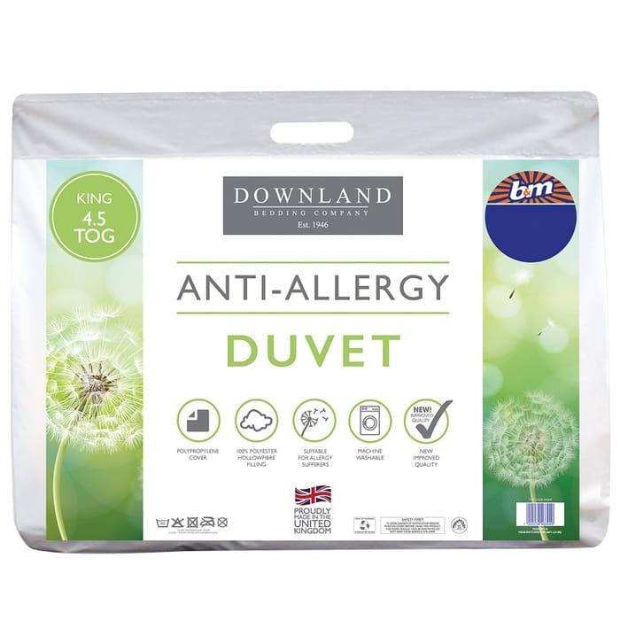 Downland Anti-Allergy 4.5 Tog Duvet - King