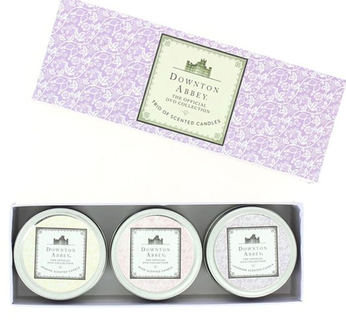 Downton Abbey Jasmine , Rose, Lavender 3 Pack Candles *For True Downton Fans!