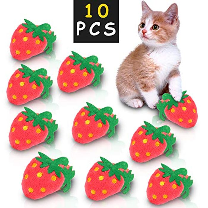 10PCS Cat Toys Catnip for Chewing Teeth Cleaning Catnip Pillow Cat Toy