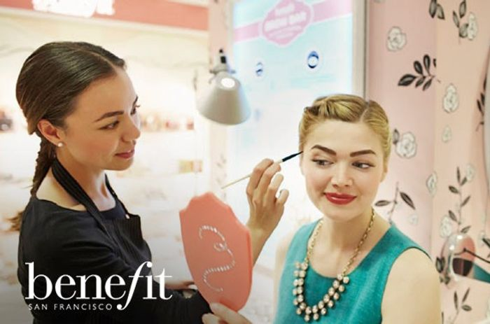 £10 Benefit Makeover Voucher with Prosecco and Free Sample