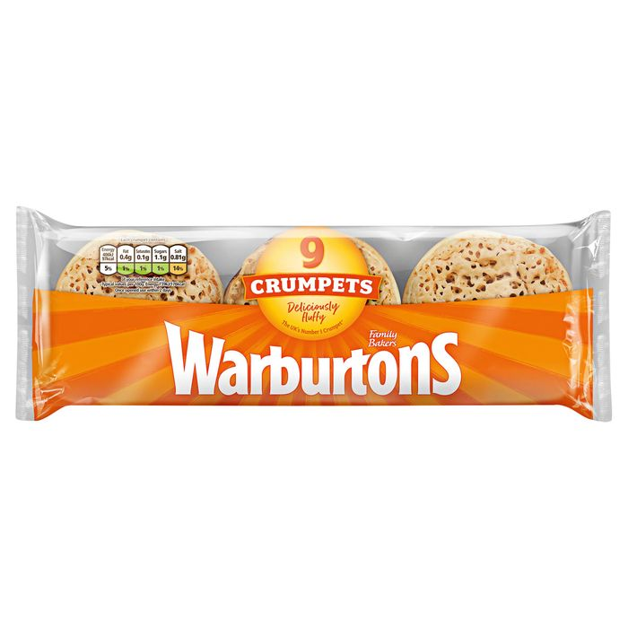 Iceland 7 Day Deal- Warburtons 9 Crumpets