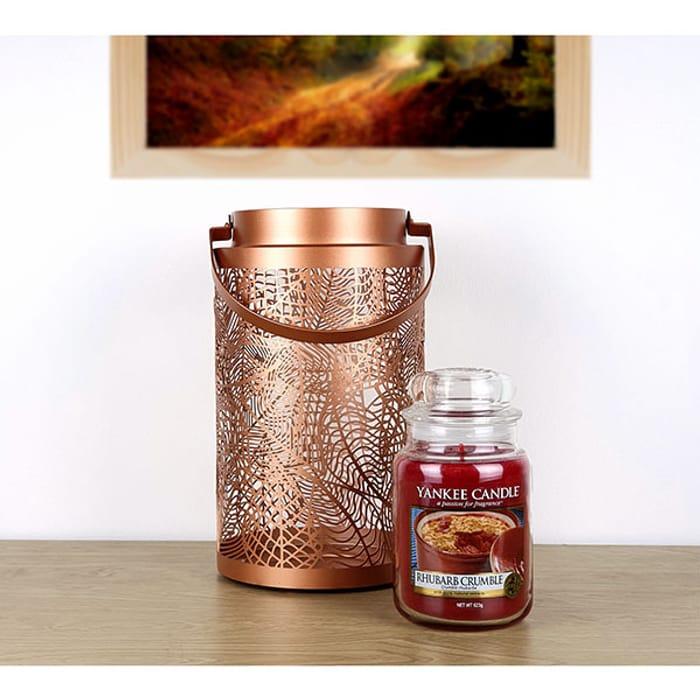 Rhubarb Crumble Classic Large Jar & Fall Leaf Lantern