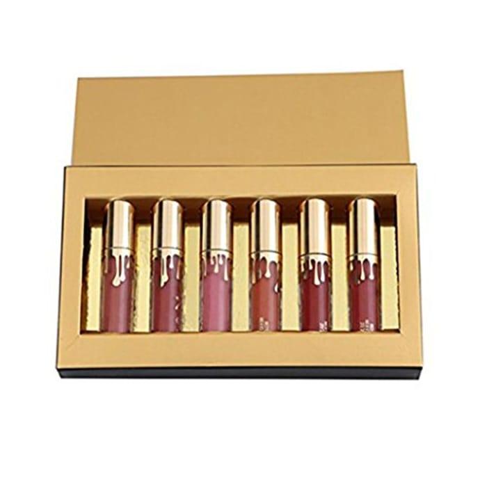 6 Pieces/Set Women Lipsticks Liquid Matt