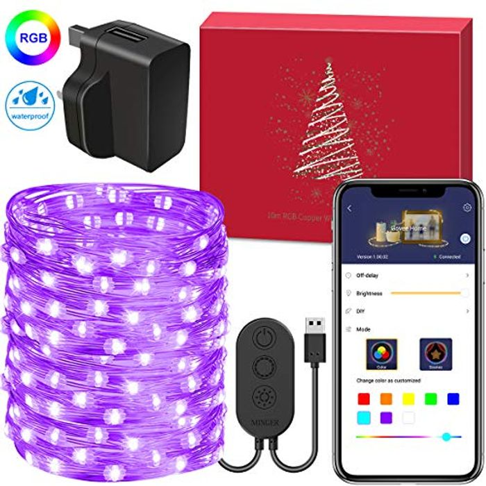 Get 45% off Govee 10m/33ft Fairy Copper Wire Light 100 LEDs 8 Modes Timer Switch