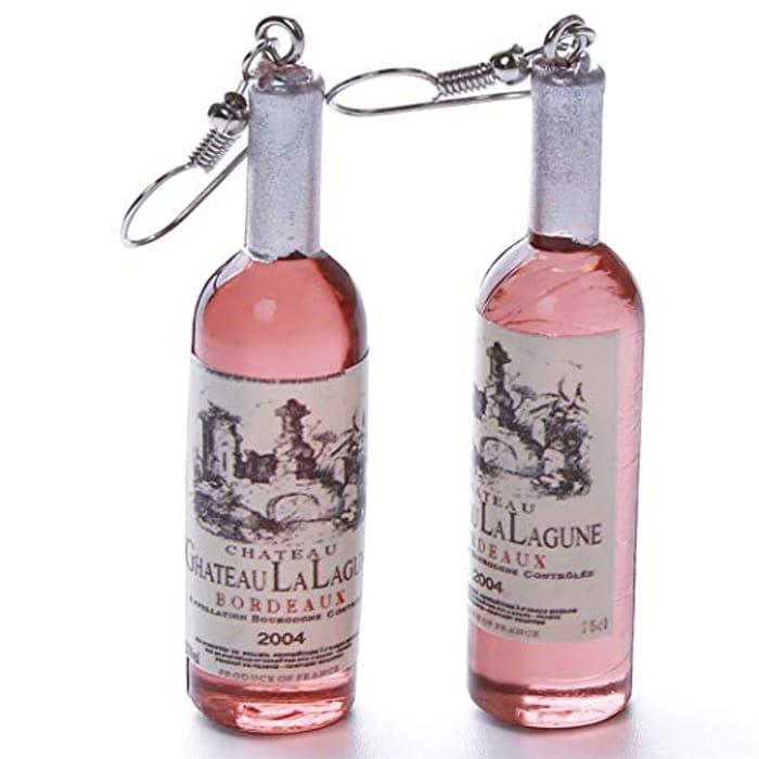Best Price! Wine Bottle Shaped Dangle Earrings at Amazon