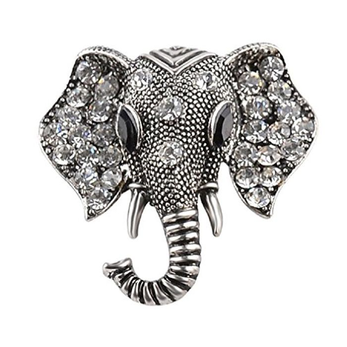 Cheap Crystal Elephant Brooches Vintage Brooch, Only £0.95!