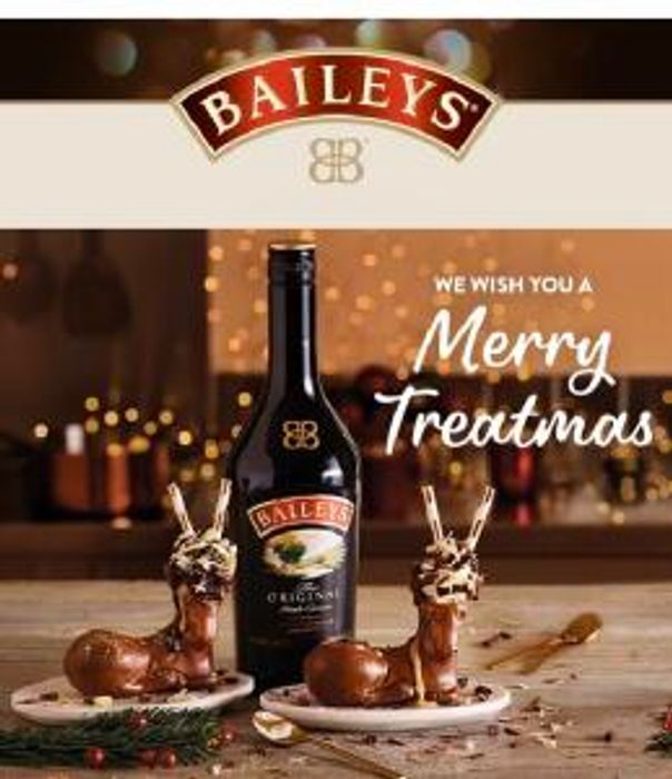 1 Litre of Baileys Original Irish Cream £12 + FREE Baileys Chocolate Reindeer