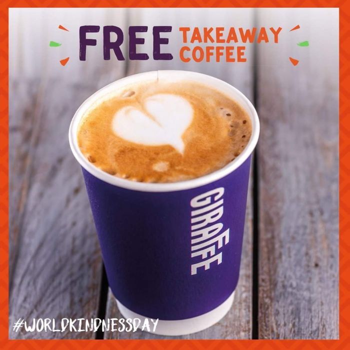 FREE Takeaway Union Coffee Wednesday 13th November Show Facebook Post!