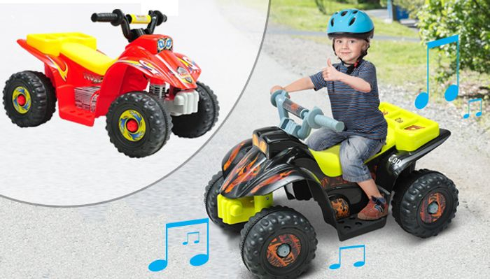 Ride-on Electric Car with Lights and Music - 2 Colours with 65% Discount!