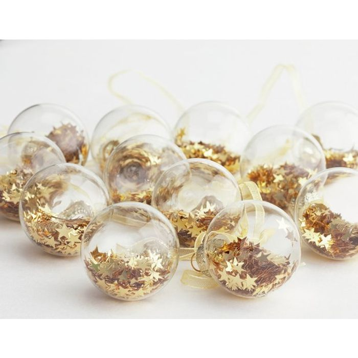 Argos Home 12 Pack Berry Christmas Mini Shaker Baubles Gold
