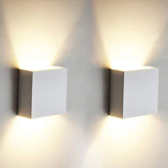 OOWOLF 2 Pcs 6W LED Wall Light up down Indoor Wall Lamp, Uplighter Downlighter