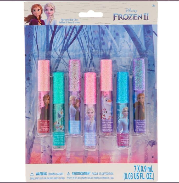 DISNEY FROZEN Seven Pack Flavoured Glitter Lip Gloss