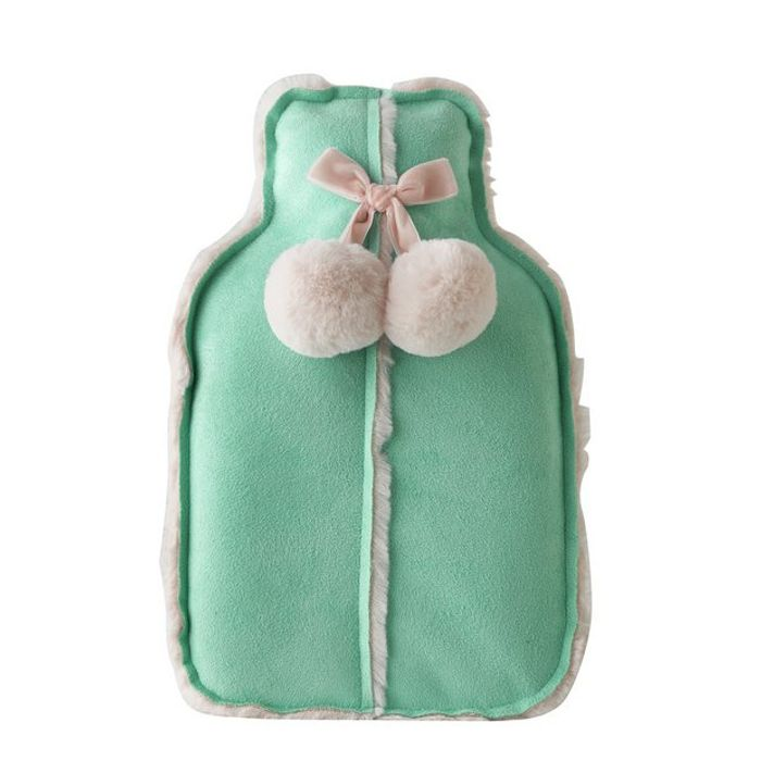 Green and Pink Hot Water Bottle HALF PRICE