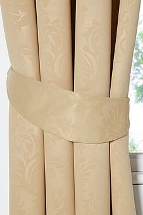 Polly Woven Damask Lined Blockout Curtains