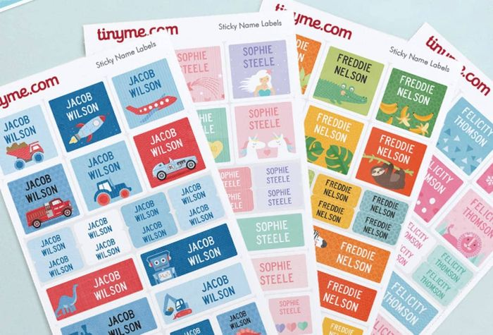 FREE Sheet of 35 Tinyme Name Labels worth £7