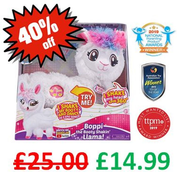 £10 OFF. Boppi The Booty Shakin' Llama. CHRISTMAS HOT TOY. Watch the Video!