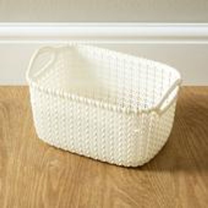 Curver Knit Collection Oasis White Basket